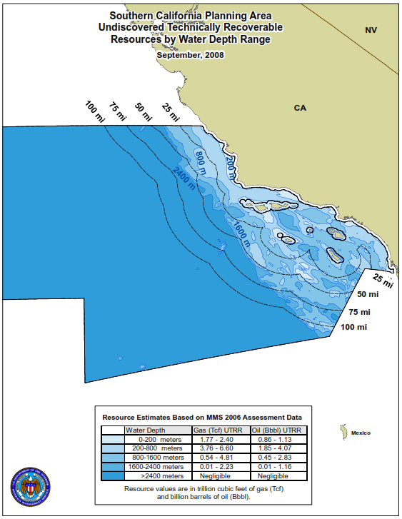 Figure 41: Southern California Planning Area Source: BOEM *Resources mentioned in