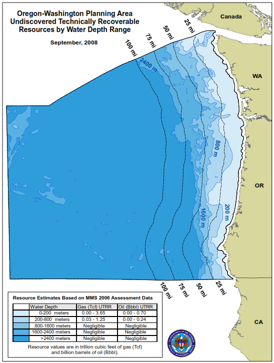 Figure 42: Washington-Oregon Planning Area Source: BOEM *Resources mentioned in