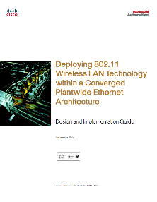 Networking Design Considerations CPwE Reference Architectures Education, design considerations and guidance to help reduce network Latency and Jitter, to help increase the Availability, Integrity and