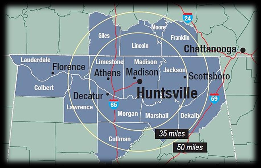 Diverse Demographics The City of Huntsville is one of the most recognized cities in the Southeast consistently named as one of the best places to live, work, and expand a business by a variety of
