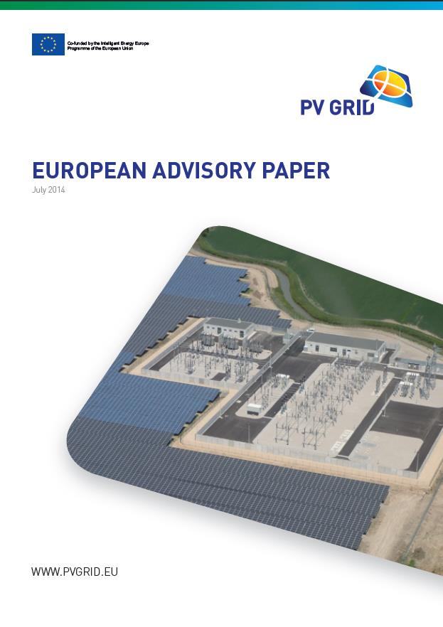 European Advisory Paper Final European Advisory Paper, including all Annexes, is available from: http://www.pvgrid.