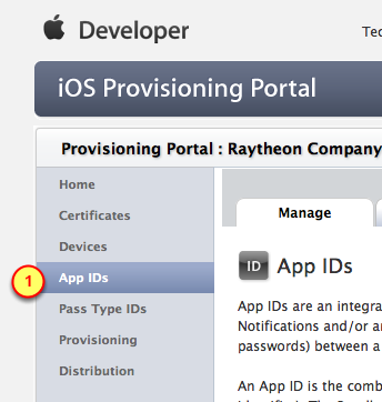 Create an App ID with Push Notifications enabled We have to Push-enable the App by creating an App ID for it. 1.