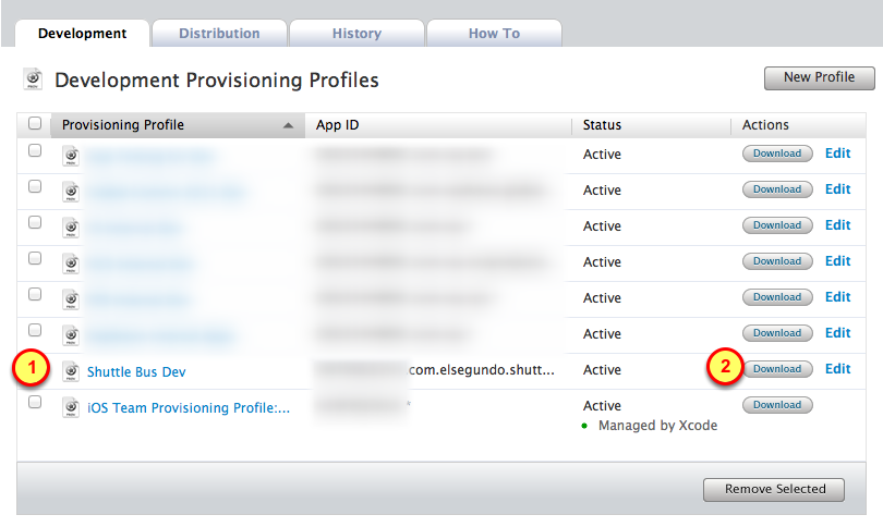 6. Create the provisioning profile 1. Click on the Submit button 7.