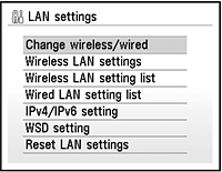 Preparing Your Multifunction Step Three Select LAN settings, then press the