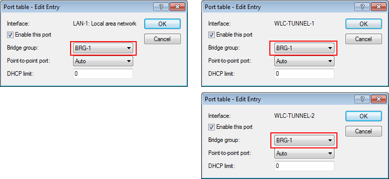 . Assign a separate logical LAN interface, e.g. 'LAN-1', to each physical Ethernet port. Make sure that the other Ethernet ports are not assigned to the same LAN interface.