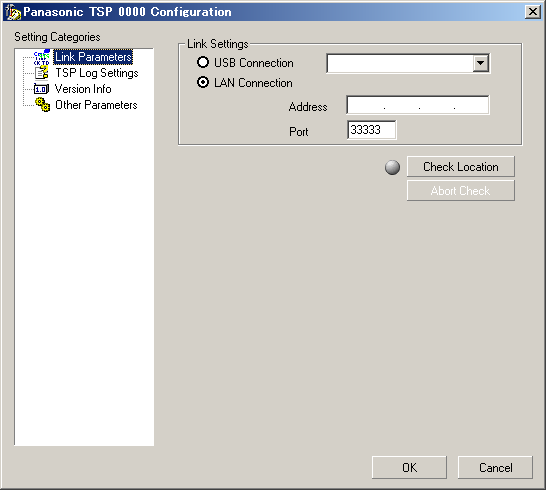 4. If KX-TDA USB driver is not installed in your computer, a dialog showing USB Driver is not installed may appear. Press OK to continue. Note : USB connection is not supported on 64-bit Windows. 5.