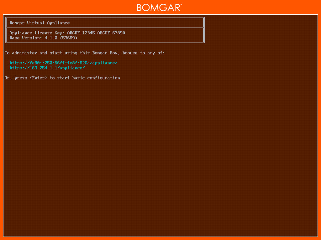 Bomgar Virtual Appliance First Boot 1. In the virtual infrastructure client, browse to the VM folder you chose above, and locate the new entry for the virtual appliance.