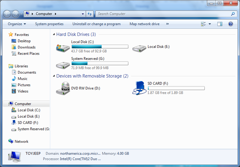 Mounting a BitLocker Drive The drive is