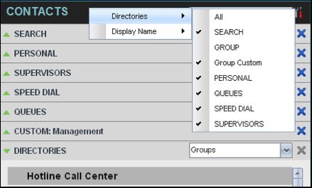 For information about the operations you perform to manage your contact directories, see the following sections: n View Contacts n Organize Contacts n Search for Contacts 8.