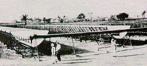 Fig. 2. Egypt as part of the solar belt. Fig. 3 Frank Shuman parabolic solar collectors, Maadi 1912.