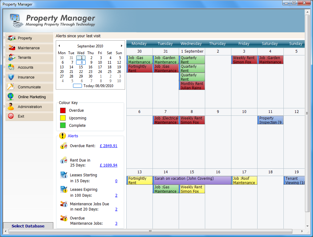 1. Overview of Property Manager Property Manager is designed to assist letting agents and property managers in the day today marketing and management of their rental property.