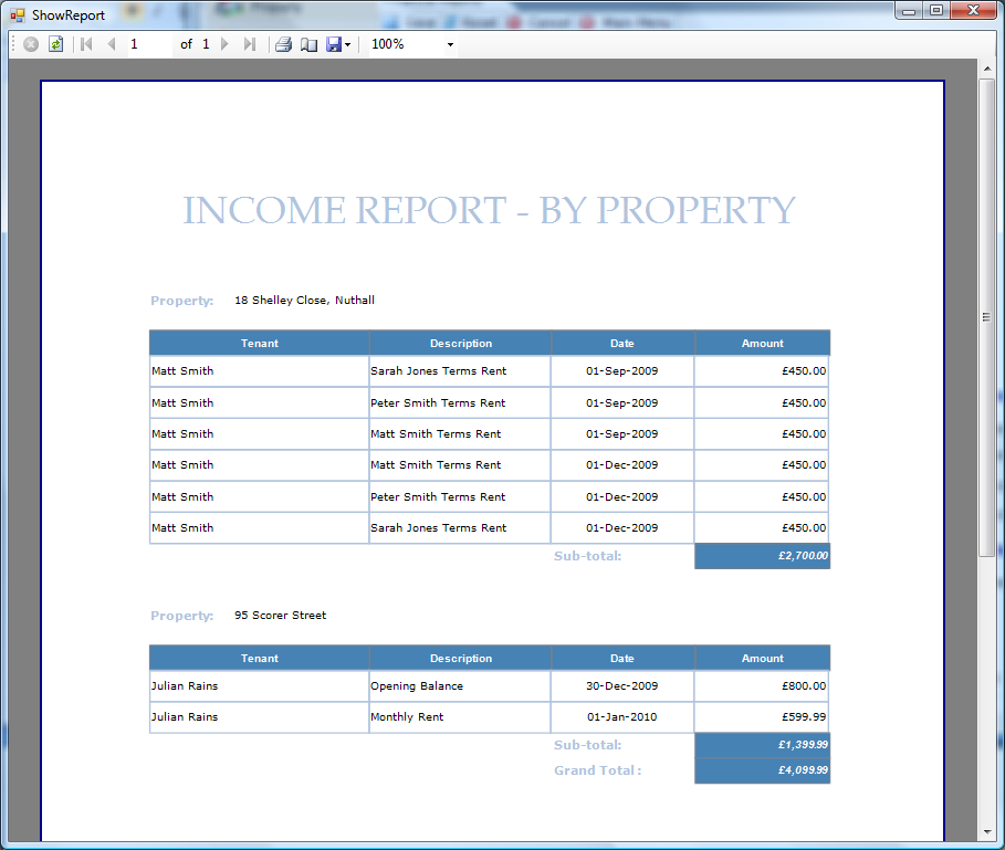 Example Income Report www.