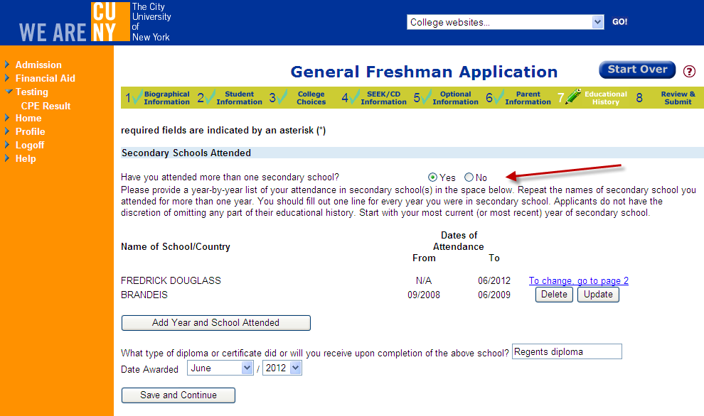 These questions are optional and not used for admissions