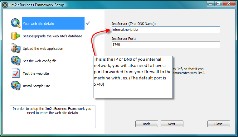 Use the button with... to enter the SQL server details in an easy form.