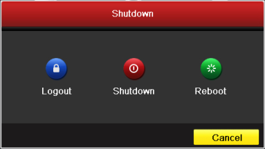 2. Select the Shutdown button. 3. Click the Yes button. 4. Shut the power switch down when the shutdown attention pops up.