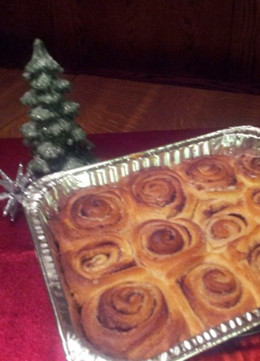 JULIE S CINNAMON ROLLS Dough: 1 pkg Dry Yeast (not Rapid Rise) 1 cup milk scalded 1/4 cup sugar 1/4 cup water (warm 110 degrees) 1/4 cup vegetable oil 1 tsp salt 3 1/2 cups all-purpose flour 1 egg