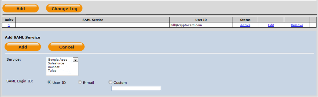 Configuring SAML Services in SAS Manually enable a user to authenticate against one or more configured SAML Service Providers.