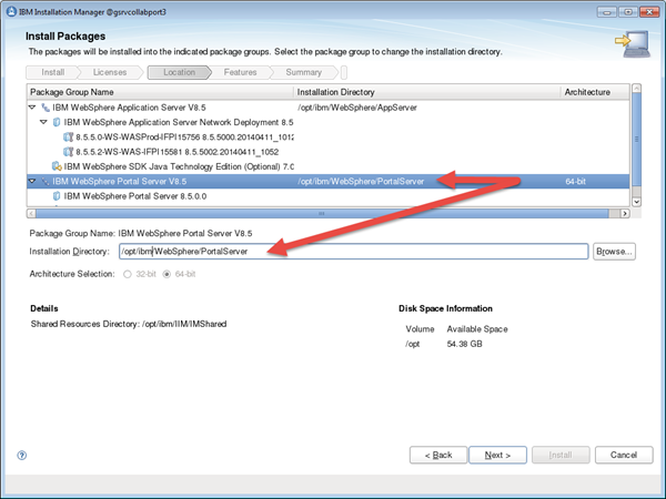 Choose your WebSphere Application Server install path, in my case /opt/ibm/websphere/appserver