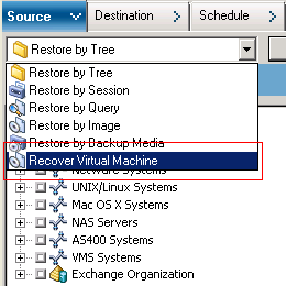 Restore Hyper-V Virtual Machine Data Browsing the Recover VM Window The Recover VM window lets you browse, select, and modify various fields.