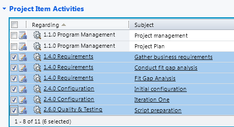 Advanced Functionalities Gantt Chart Select the project item activities that have the same utilization %. And in the top ribbon bar, click the Edit button.