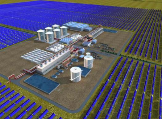 Planned 280 MW Solana Plant with