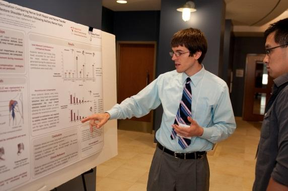 Each year, approximately 125 students and faculty attend the symposium. Graduating students present their Ph.D. and M.S.