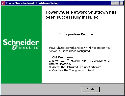 7. When your Windows Firewall is enabled, you can allow the PowerChute installation to configure the firewall automatically by choosing Yes when prompted: PowerChute Network Shutdown ports must be