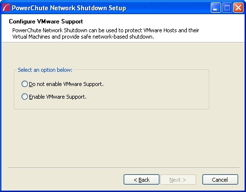 5. Choose Enable VMware Support at the dialog below.