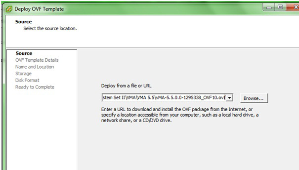 4. At the Deploy from a file or URL field, enter the path to the.