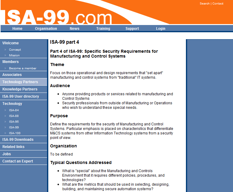 ISA-99 : Industrial Automation