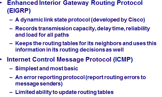 OSPF Other interior routing