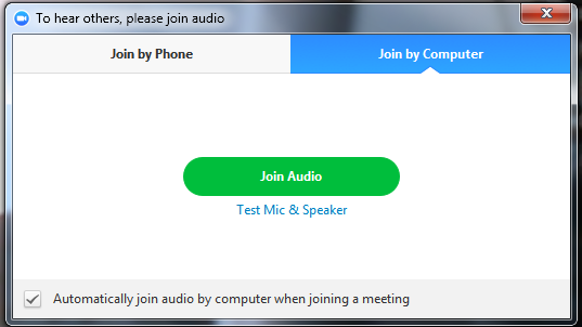Meeting Options: Audio Options Mute or Unmute Audio Click the microphone icon to mute or unmute your meeting audio.