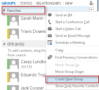Finding Your Contacts To add people to your contacts group, type their name into the search field and they will automatically appear. Right click their name and then select Add to Contact List.