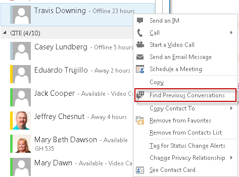 Starting a Conversation To start a conversation, double click on the contact you want to communicate with and a chat window will open.