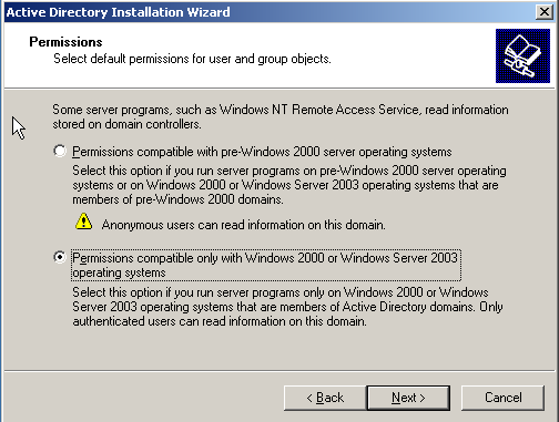 12. Because this is a laboratory environment, leave the password for the Directory Services Restore Mode Administrator