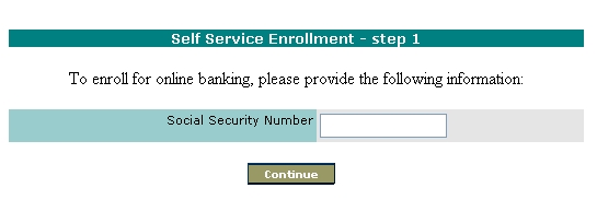 Users Guide to Internet Banking Self Service Enrollment This document is a guide for customers who wish to use The Bank of Greene County s Self Service Enrollment Utility for Internet Banking The