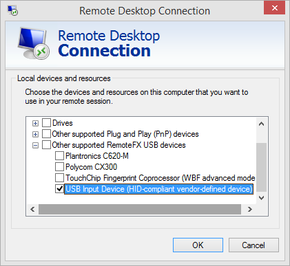 After establishing RDP session In order to enable forwarding after the session has been established, the session must be in full screen in order to see the RDP menu items. 1.