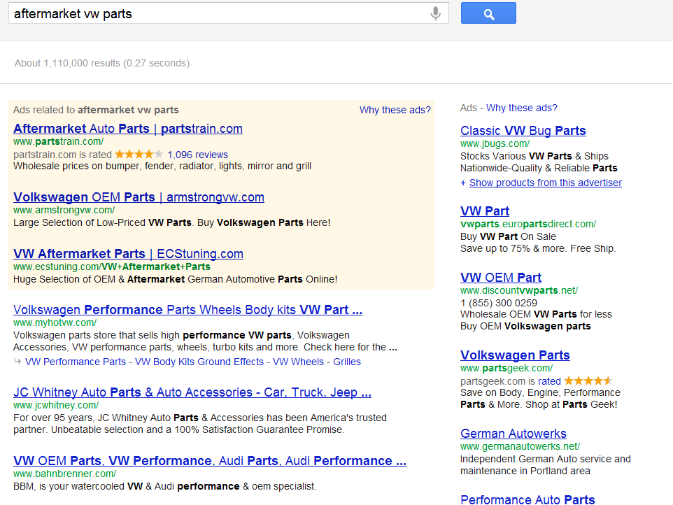 SERPs (Search Engine Results