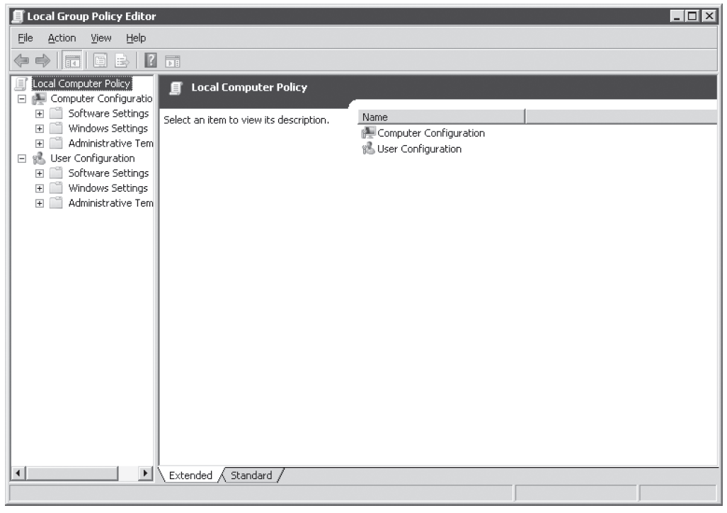 Figure 4-7 Local Group Policy