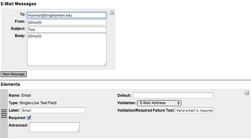 Once you have designed your form, save it, and go to the page you want the form to appear on.