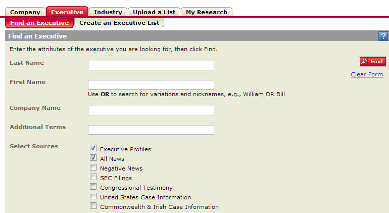 You can also select the sources you would like included in your search.