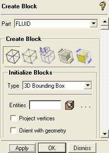 perform any individual face associations to underlying CAD geometry which reduces the time for mesh generation. 1. Create an initial block.