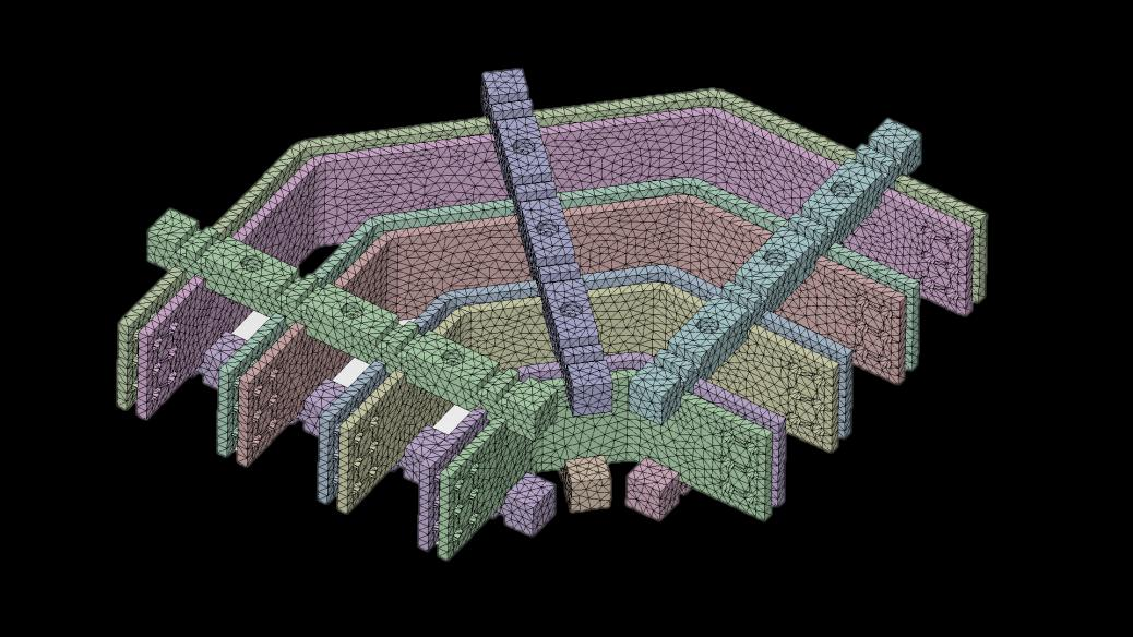 ANSYS AIM Meshing for all physics Automated and user defined mesh resolution based on engineering intent Tetrahedral mesh for stress analysis Parallel mesh generation for