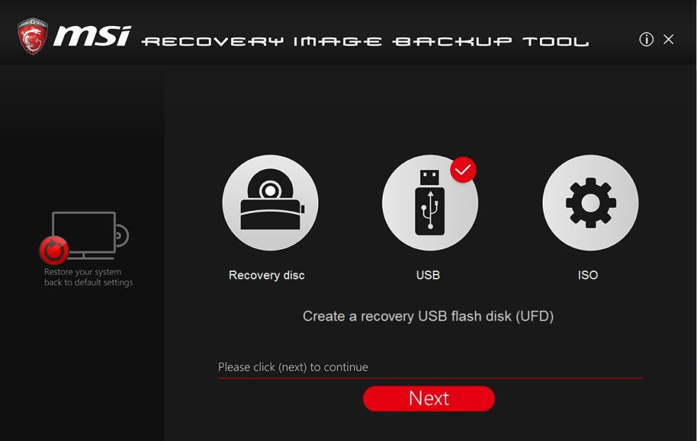 FAQ No. 01779 Q: How to use MSI BurnRecovey on Windows 10 preloaded system? A: (For Windows 10 pre-installed system only) MSI recommends all users to create system backup file with BurnRecovery tool.