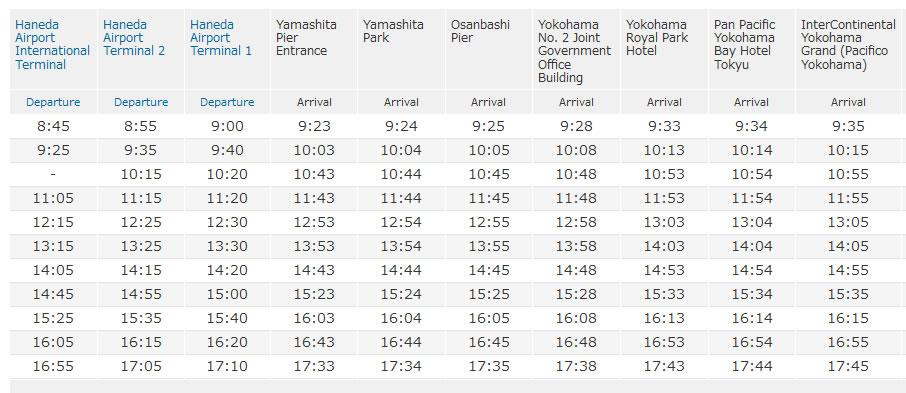 InterContinetal Timetable: Bus from