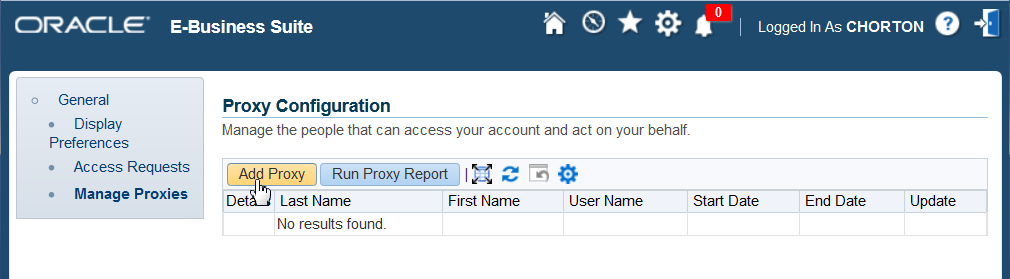 Example: User Delegating to Proxy