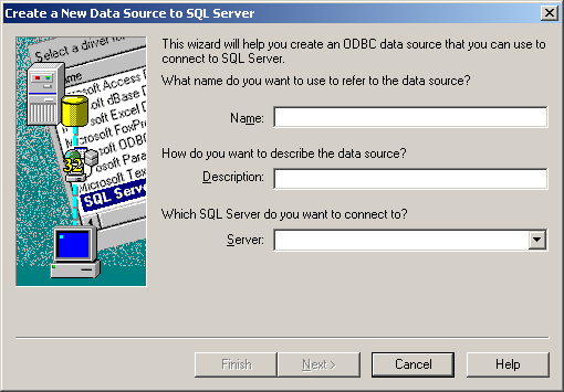 Chapter 6: Connecting to the Log Database NOTE MSDE installs SQL ODBC drivers as part of its installation, so both SQL Server users and MSDE users should select SQL Server as their driver. 5.