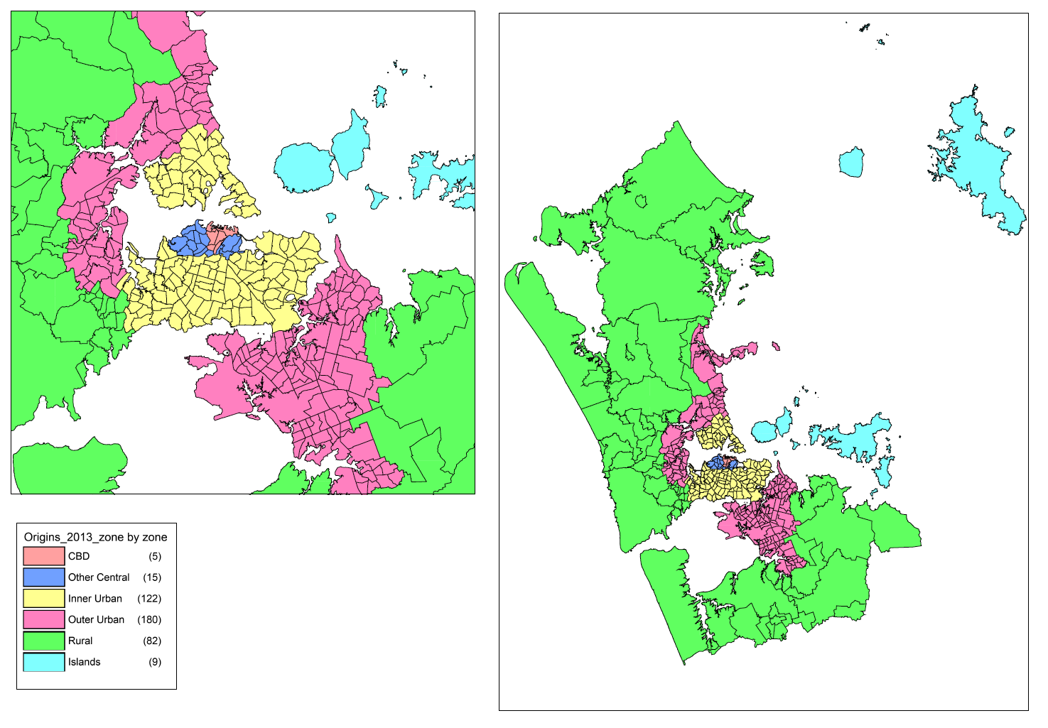 The sectors defined have primarily been based on Local Board areas with the Waitemata Local Board area split between the CBD and the Other Central sector.
