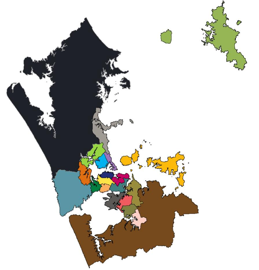 5.1 Introduction The Local Board areas form the next level of disaggregation of locations within the Auckland Region.