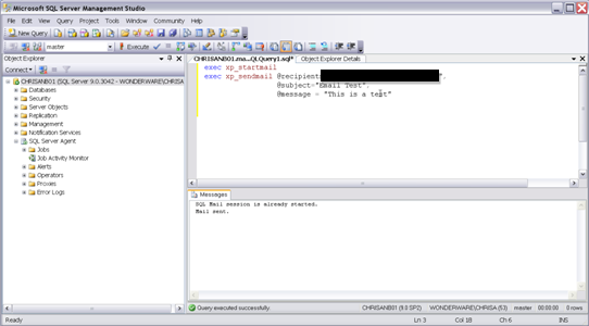 FIGURE 2: CONFIGURE THE LOG ON FOR MSSQLSERVER Test the SQLMail Configuration 1.